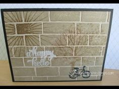 card making video tutorial: Shadow on the Wall ... clever inking with France Martin ...