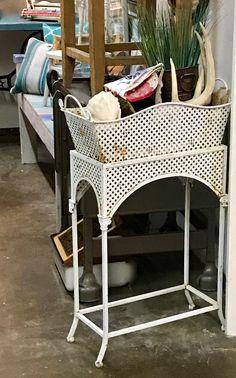 """Garden Planter   Two Pieces   18"""" Deep x 31"""" High  $22  Vintage Affection Dealer #1680  White Elephant Antiques 1026 N. Riverfront Blvd., Dallas, TX 75207"""