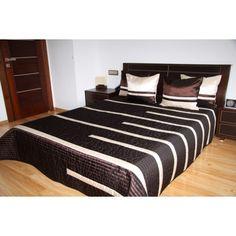 Luxusní přehozy na postel v čokoládové barvě s proužky - dumdekorace.cz Bed, Furniture, Design, Home Decor, Decoration Home, Stream Bed, Room Decor, Home Furnishings