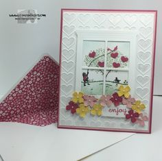 Stampin' Up! Happy Home - coming soon in the Occasions Catalog.  Combined with the Hearth and Home Thinlits - which can be bundled with Happy Home!  http://stampsnlingers.com/2016/01/02/stampin-up-happy-home-window/