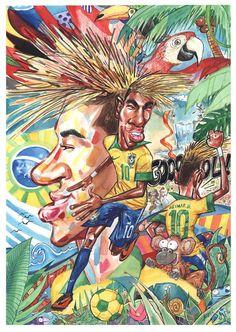 Neymar, by Germán Aczel - http://www.colecaodecamisas.com/neymar-by-german-aczel/