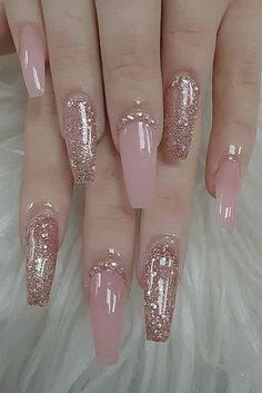 Give style to your nails by using nail art designs. Donned by fashion-forward personalities, these nail designs can incorporate instant glamour to your outfit. Almond Acrylic Nails, Best Acrylic Nails, Acrylic Summer Nails Coffin, Acrylic Nail Designs Coffin, Coffin Acrylics, Pink Acrylics, Acrylic Nail Art, Coffin Nails Long, Coffin Nails Glitter