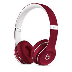 Buy Beats by Dre Solo 2 On-Ear Headphones Luxe Edition - Red at Argos. Thousands of products for same day delivery or fast store collection. Cute Headphones, Iphone Headphones, Wireless Headphones, Beats By Dre, Beats Solo, Music Beats, Telephone Smartphone, Accessoires Iphone