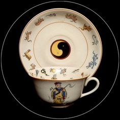 Rare Fortune Telling Teacup by Cannonsburg Pottery. Would love to have one of these in my collection!