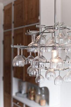 Stemware chandelier