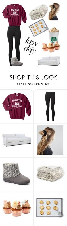 """""""stay at home"""" by bambi1616 ❤ liked on Polyvore featuring The Row, ASOS, SONOMA Goods for Life, Eddie Bauer and Martha Stewart"""