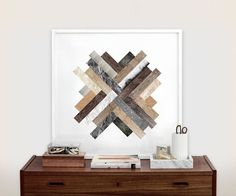 6 Ideas For Introducing Herringbone Patterns Into Your Interior | Modern artwork is another way to introduce a herringbone pattern. It adds personality to your space, warms it up, and makes bare walls a little more fun.