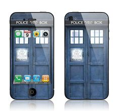 iPhone decal skin cover, Doctor Who Tardis