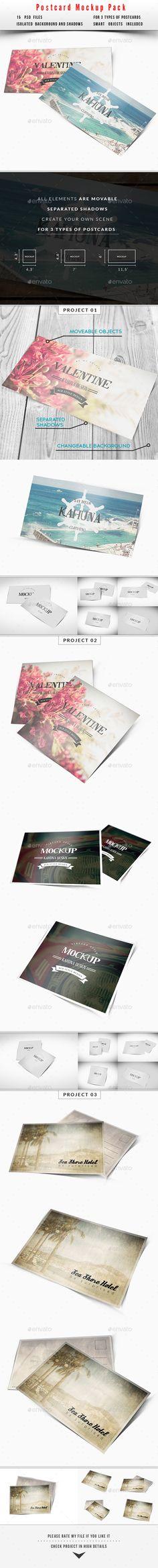 Postcard / Invitation Mockup Pack #postcardmockup #invitationmockup Download: http://graphicriver.net/item/postcard-invitation-mockup-pack/10534707?ref=ksioks