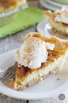 "Snickerdoodle Pie - Taste and Tell.""Pie meets snickerdoodle cookie in this addictive Snickerdoodle Pie. A pie crust is topped with a soft snickerdoodle cookie center and a cinnamon caramel sauce. Serve with ice cream for a delicious dessert! Party Desserts, Mini Desserts, Just Desserts, Delicious Desserts, Gourmet Desserts, Plated Desserts, Pie Recipes, Sweet Recipes, Dessert Recipes"