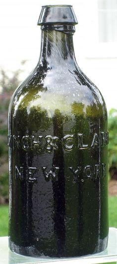 Lynch & Clarke New York Antique Bottles, Old Bottles, Glass Collection, Lynch, Jars, Medicine, American, Antiques, Vintage