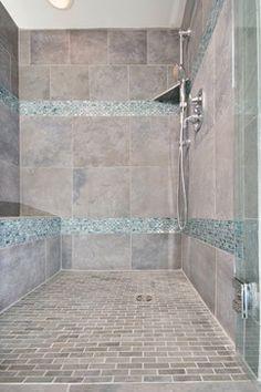 Glass Tile Shower Contemporary Bathroom Tile Chicago By - Bathroom tile chicago