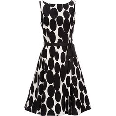 Black And White Polka Dot Dress - Wallis Europe ($73) ❤ liked on Polyvore featuring dresses, vestido, polka dot, white black polka dot dress, white and black polka dot dress, white black dress, black and white dress and dot dress