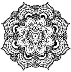 """Mandala Temporary Tattoo (Set of Tattoo Size 2 x 2 2 Tattoos Included. From the Sanskrit """"circle"""" our custom mandala represents balance, unity and our personal journey in life. Dotwork Tattoo Mandala, Henna Mandala, Flower Mandala, Henna Art, Henna Flowers, Mandala Art, Lotus Flower, Flower Coloring Pages, Mandala Coloring"""