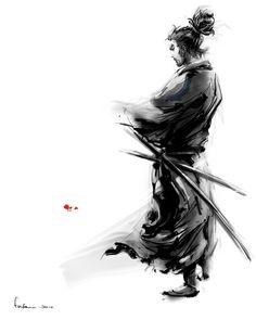 "xombiedirge: "" Miyamoto Musashi by Fai Chan ""                                                                                                                                                                                 Mais"
