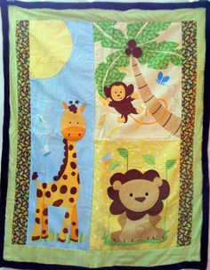 jungle animal applique quilt