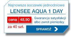 Wypróbuj najnowszą soczewkę 1-dniową LenSee Aqua 1-day 1 Day, Aqua, Water