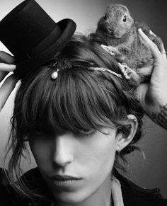 "2,959 Likes, 21 Comments - Lou Doillon ☕ (@loudoillon) on Instagram: ""Happy , with my bunny Peter a few years back  @karllagerfeld """
