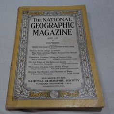 June 1930 National Geographic first Airship Around the World Italian Libia