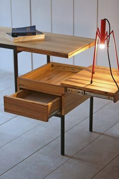 Rectangular writing desk with drawers KTAB - Kann Design