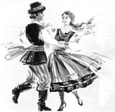 Images search results for polka dancing from Gamers Unite! Samba, Dancer Drawing, Polish Folk Art, Learn To Dance, Irish Dance, Couple Drawings, Lets Dance, Pretty Art, Folklore