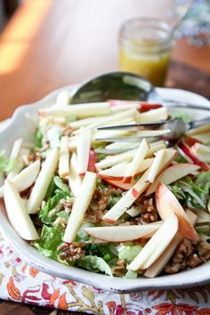 Apple, Celery and Walnut Salad with Dijon Vinaigrette - this is a salad that's great for entertaining, always a crowd pleaser. Or add grilled chicken and serve it as a light weeknight or weekend meal. Best Nutrition Food, Health And Nutrition, Nutrition Program, Health Advice, Fruit Nutrition, Universal Nutrition, Nutrition Chart, Nutrition Guide, Clean Eating Tips