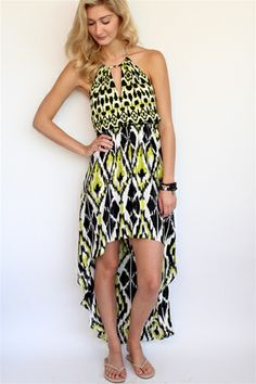 Lime Ikat Vivienne Hi Lo Dress from Alice & Trixie at Rosie True