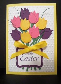 Happy Easter Kids Crafts, Preschool Crafts, Diy And Crafts, Paper Crafts, Diy Easter Cards, Diy Cards, School Board Decoration, Mother's Day Diy, Mothers Day Crafts