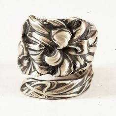 Spoon Ring Vintage Day Lily by Simpson Hall Miller Co by Spoonier, $75.50