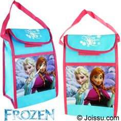 DISNEY'S FROZEN INSUALTED LUNCH SACK. Insulated with PVC foil with a front pocket, sturdy woven handle and hook and loop closure, these will delight any Ella fan. Keeps food and beverages hot or cold. The perfect gift for any Disneyholic.  Size 10 X 7 X 4 Inches