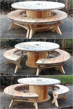 recycled-pallet-cable-reel-patio-furniture