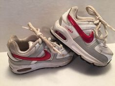 Nike-Air-Max-Toddler-Infant-Sneakers-Red-White-Shoes-Sz-6C-Baby-Athletic-Swoosh