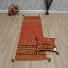 Kelim Hallway Runners Are Handmade With A Woven Cotton Chenille Pile In Large Selection Of Colours Matching Rugs And Cushion Covers