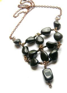 Smooth Operator Black Onyx  Necklace by LunaEssence on Etsy, $32.00