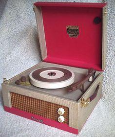 Restored 1960s Dansette Junior De-Luxe portable record player