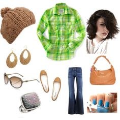 Green and Brown, created by jenhaught.polyvore.com
