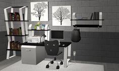 MoogleSims - Amovitam converted this Back to School set from. School Sets, Office Desk, Corner Desk, Back To School, Sims 2, Furniture, Home Decor, Corner Table, Desk Office