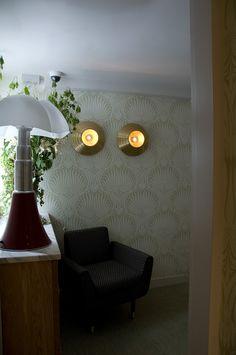 Maison Thoumieux - Paris, France. Collaboration with India Mahdavi.   /// hotel / wall light / decorative light / brass /// Contact us - pslab.net