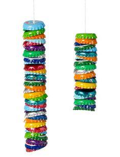 Flesdoppen hebben vaak lekker sprekende kleuren, zonde om weg te gooien.