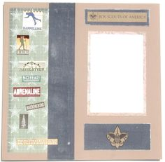 Boy Scouts, Cub Scouts, Premade Scrapbook Page. $16.50, via Etsy.
