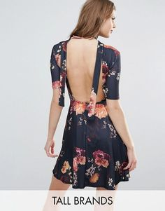 Buy it now. Oh My Love Tall Tea Dress With Open Back In Floral Print - Black. Casual dress by Oh My Love Tall, Stretch printed fabric, High neck, Fit and flare shape, Open back, Strap detailing, Regular fit - true to size, Machine wash, 95% Polyester, 5% Elastane, Our model wears a UK S/EU S/US S and is 176cm/5'10.5 tall. , vestidoinformal, casual, camiseta, playeros, informales, túnica, estilocamiseta, camisola, vestidodealgodón, vestidosdealgodón, verano, informal, playa, playero, capa…