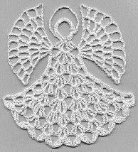 Flat Angel Ornament   AllFreeCrochet.com
