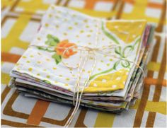 drool.  Make your own napkins out of vintage sheets.  sooo I guess these could actually help me with my drool problem.  To me this seems like a vicious cycle......