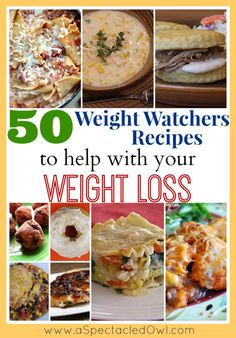 50 Weight Watchers Recipes to Help You with Your Weight Loss - UPDATED - A Spectacled Owl
