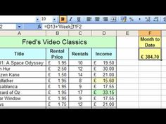 Microsoft Excel Tutorial for Beginners #32 - Worksheets Pt.2 - Calculations - YouTube