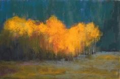 "Landscape Artists of Colorado: ""Aspen Grove"" Original Pastel Landscape Painting by Western Colorado Artist Barbara Churchley"