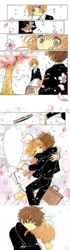 Kinomoto Sakura x Li Syaoran. Cardcaptor Sakura, Syaoran, Manga Anime, Comic Manga, Anime Kiss, Manga Girl, Xxxholic, Card Captor, Fanart
