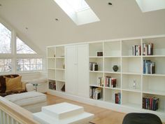 built-ins, sky lights