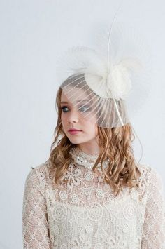 LADY ASCOT fascinator wedding fascinator by BlairNadeauMillinery, $225.00