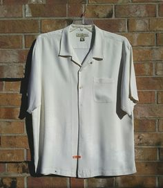 Tommy Bahama Silk Tropical Palm Tree Causal Dress Shirt Wooden Buttons Size XL  | Clothing, Shoes & Accessories, Men's Clothing, Casual Shirts | eBay!